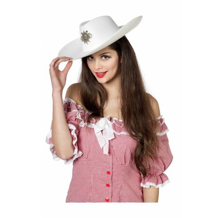 Cowboyhoed groot wit