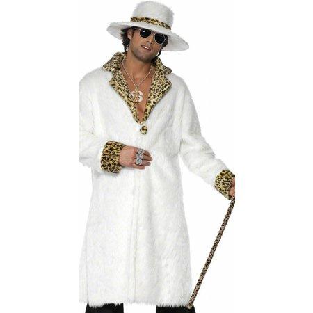 Pimp kostuum wit luipaard