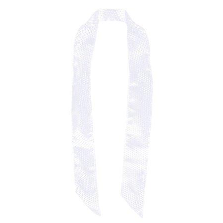 Sjaal pailletten wit 170x9cm