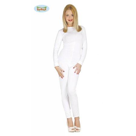 Bodysuit vrouw wit spandex