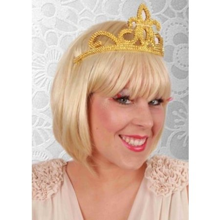 Kroontje tiara goud
