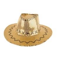 Disco Cowboy hoed goud