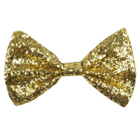 Vlinderstrik glitter goud