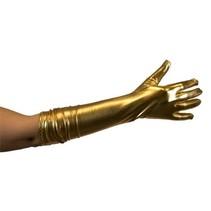 Handschoen metallic goud 40cm