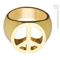 Peace and Love rind goud
