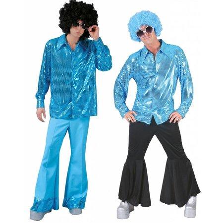 Disco blouse paillet aqua