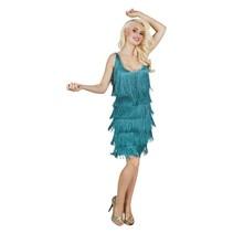 Showgirl kostuum 20's turquoise