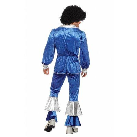 Disco kostuum kobalt Abba
