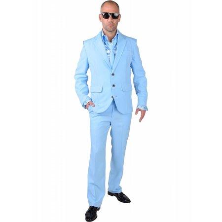 Baby blue kostuum man