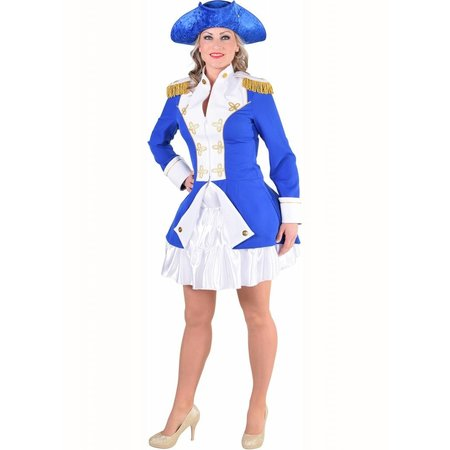 Officiersjas dame garde Kobalt