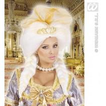 Pruik fantasie koningin