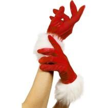 Kerst handschoenen kort