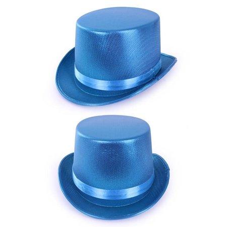Hoge hoed metallic turquoise