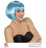 Azuur blauwe boblijn pruik dames