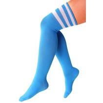 Cheerleader kousen turquoise/wit