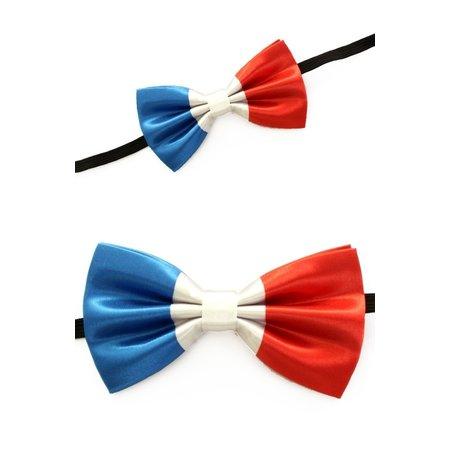 Vlinderstrik Franse vlag blauw/wit/rood