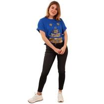 Toppers T-Shirt Happy Birthday Blauw