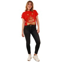 Toppers T-Shirt Happy Birthday Rood