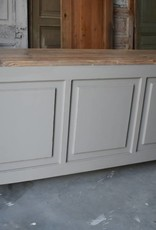 Vintage Counter  with rough wood 200 cm