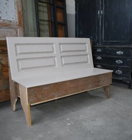 Wooden bench with flap and storage 150 cm