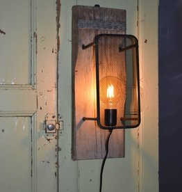 wall lamp on wood