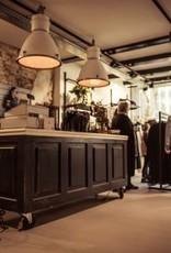Toonbank, bar, receptie, balie, verkoopbalie op maat gemaakt, vintage/brocante/industrieel