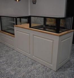 Verkoopbalie toonbank voor koel vitrine op maat gemaakt