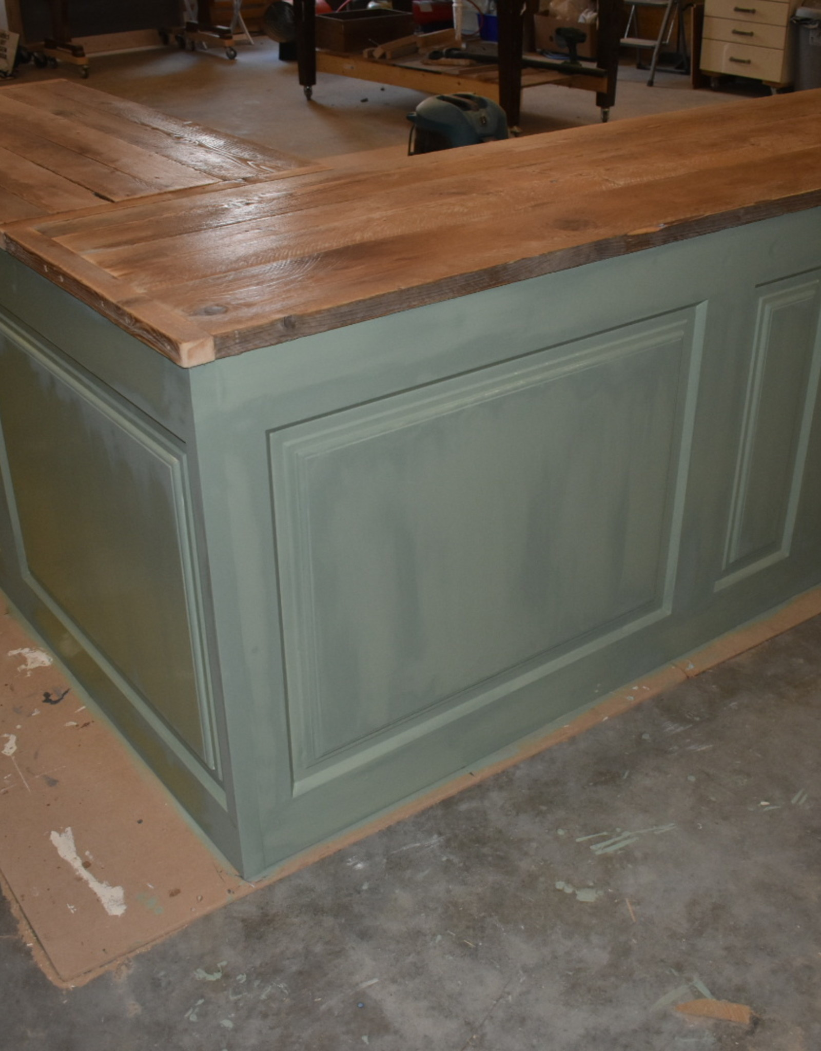 Vintage corner counter / bar / reception counter all dimensions