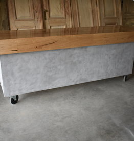 Moderne toonbank beton en hout vintage / Industrieel