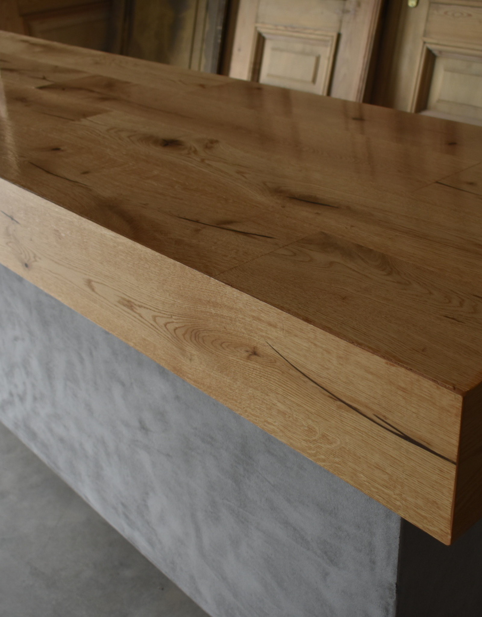 Modern counter concrete and wood vintage / Industrial