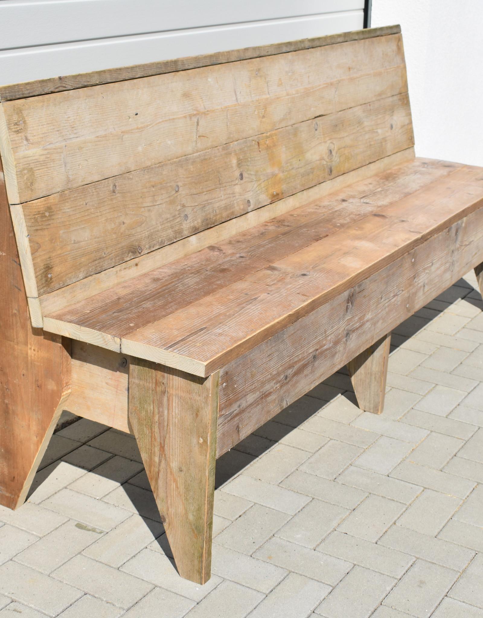 Bank vintage hout vanaf 120 cm en langer