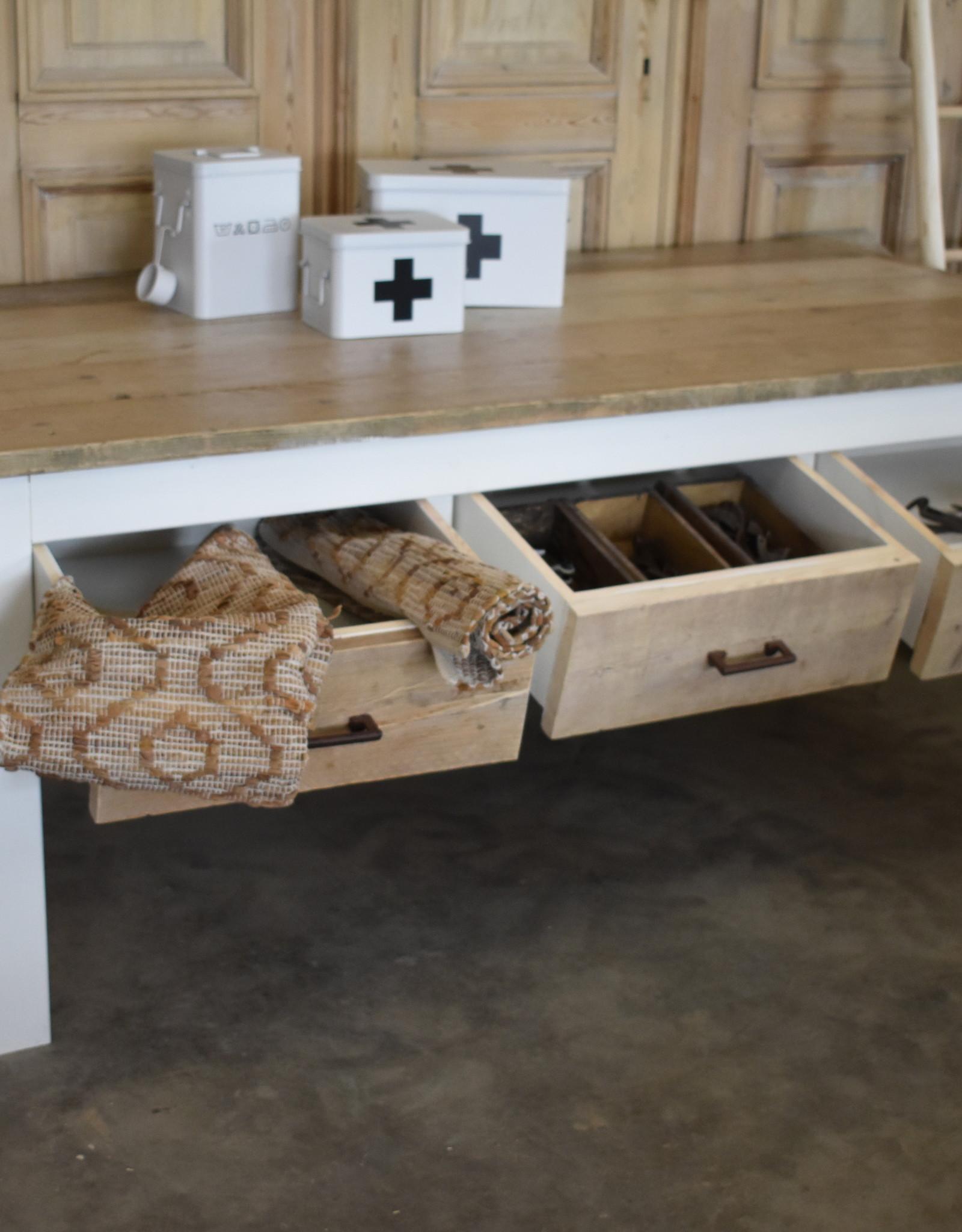 Vintage Verkooptafel / Winkel tafel / Werktafel