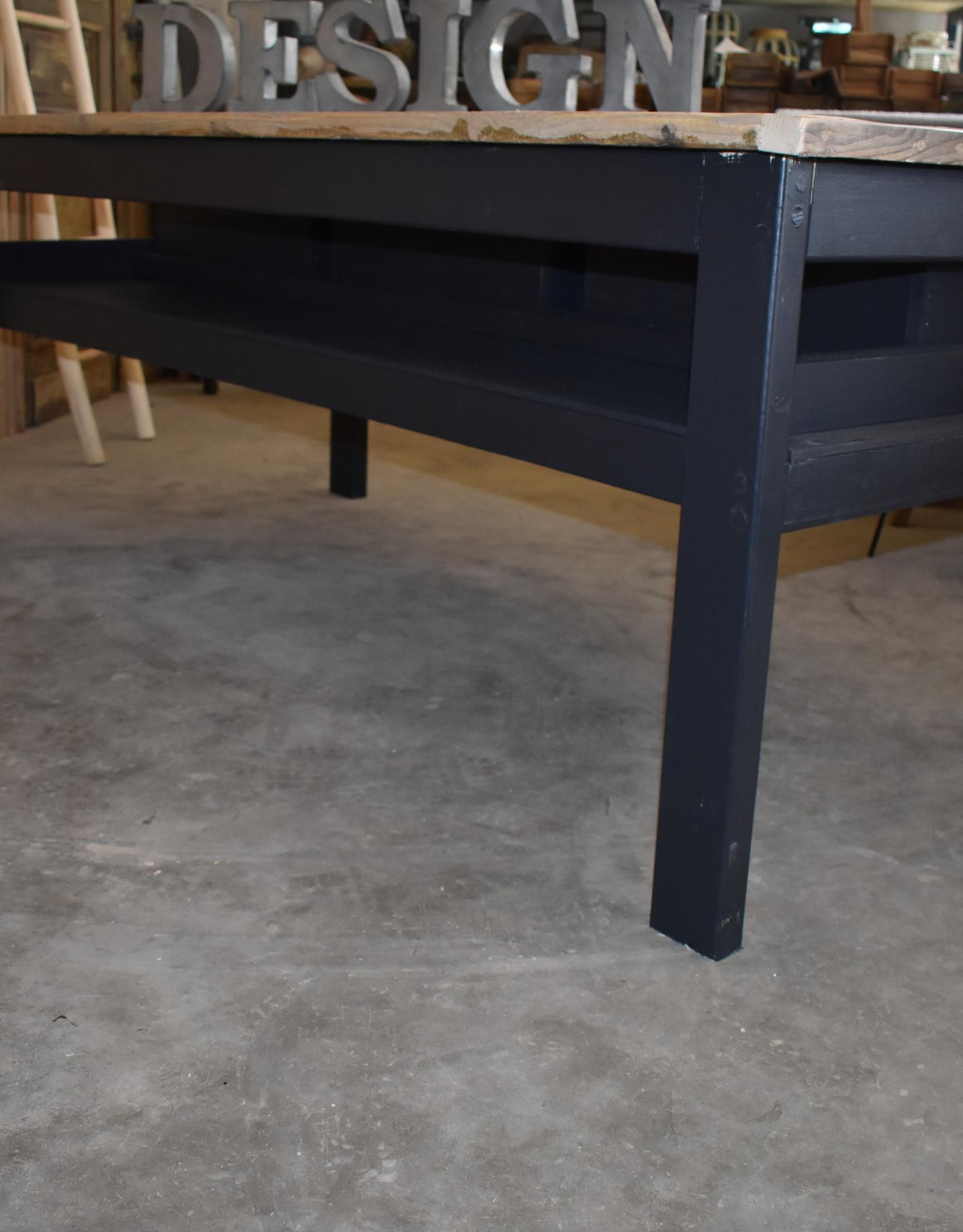 Vintage Verkooptafel / Winkel tafel / Werktafel  Zwart