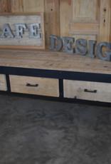 Vintage  Sales table / Shop Table / Work table Black