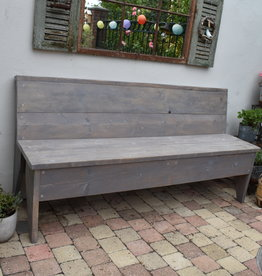 Bench Vintage Wood from 120 cm and longer GREY