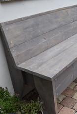 Bank vintage hout vanaf 120 cm en langer GRIJS