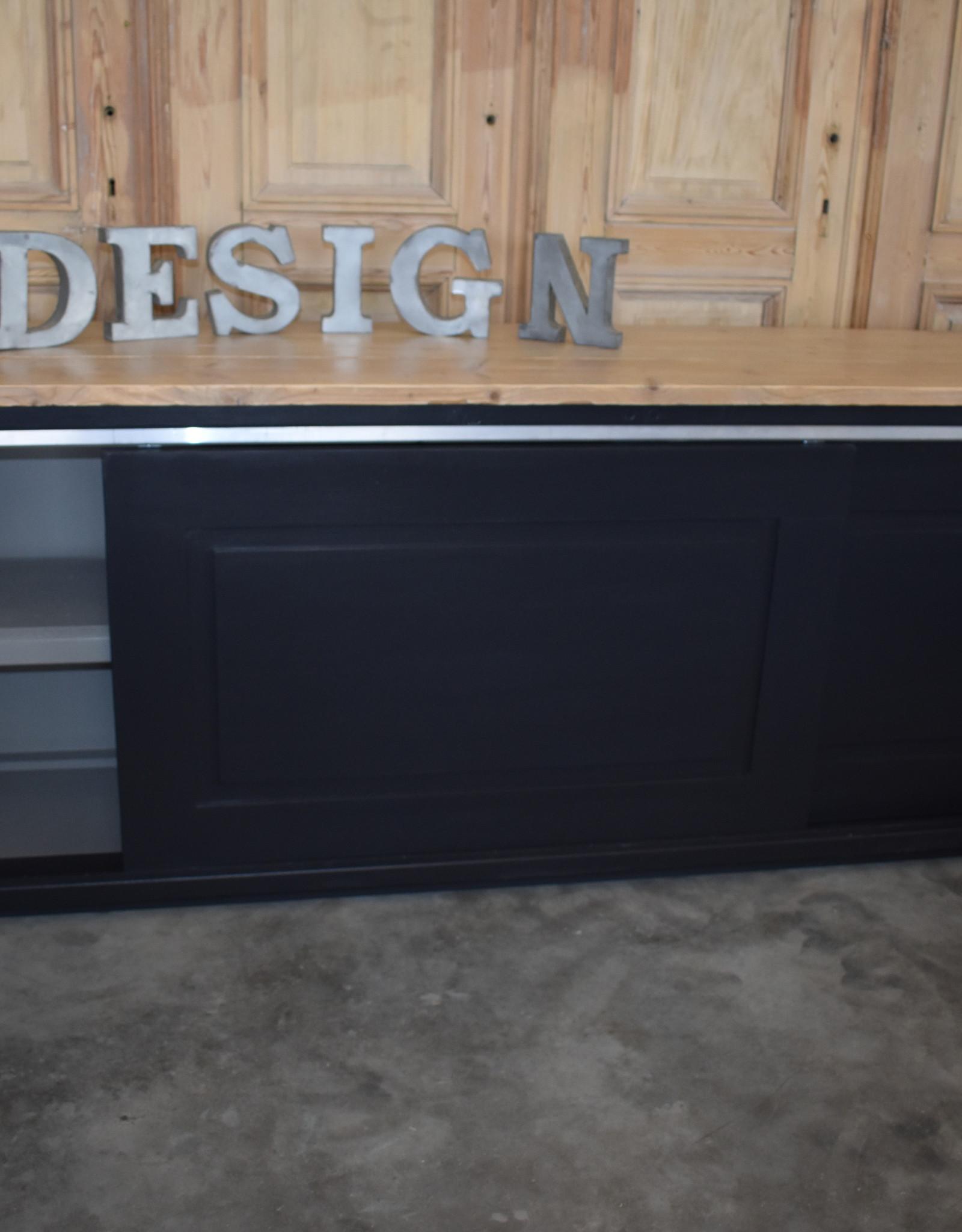 Wandschrank mit Schiebetüren, für Laden, Café, Küchen usw