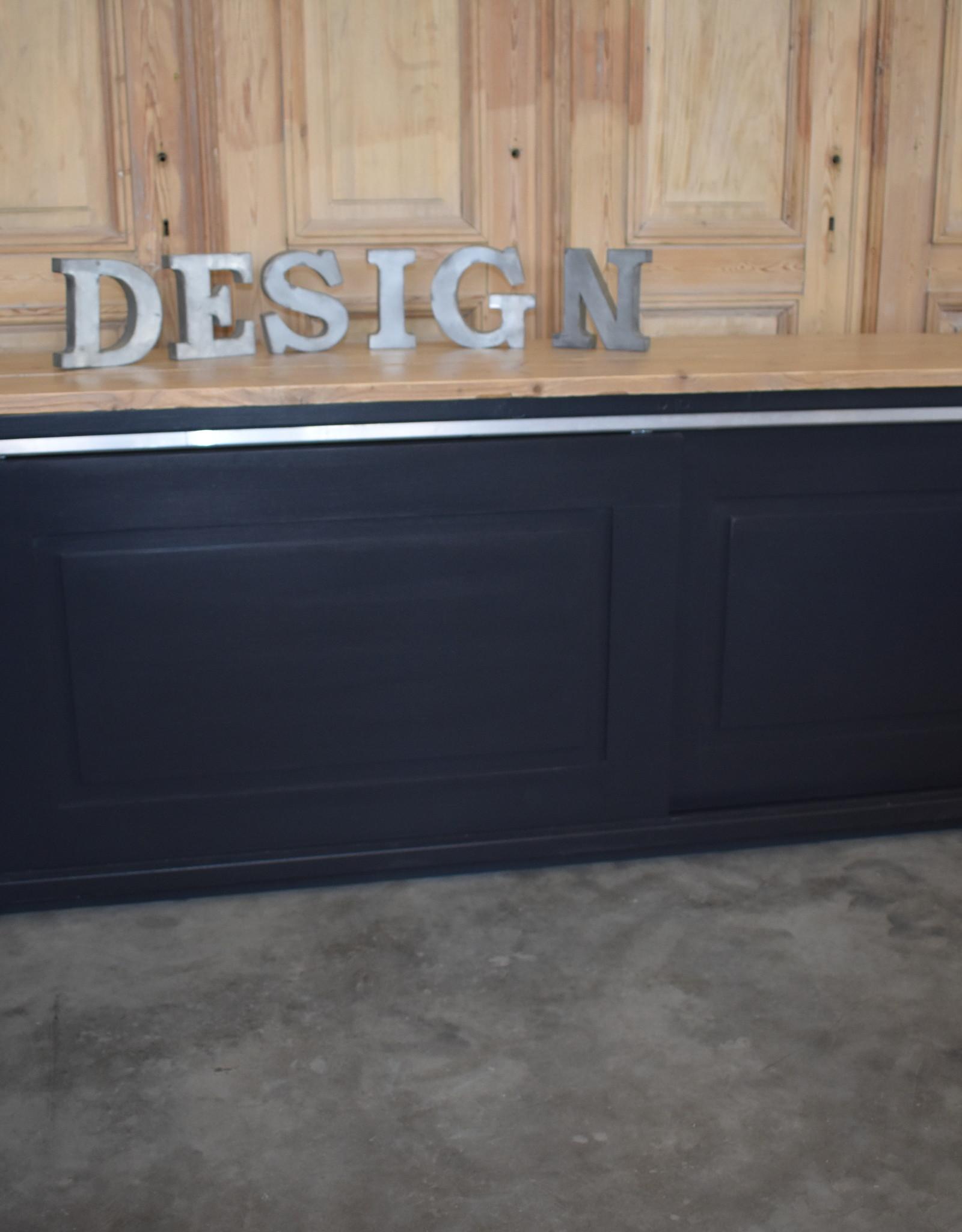 Wandkast met Schuifdeuren voor winkel, keuken, café etc