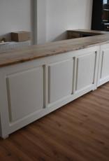 Ecktheke / Bar / Empfangstheke alle Maße mit Vintage Holzplatte