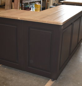 Corner counter / bar / reception all dimensions  with Vintage wood