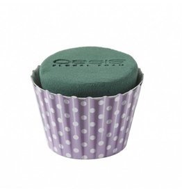 OASIS® FLORAL FOAM Cupcake Lila Ø6x8cm | 6st