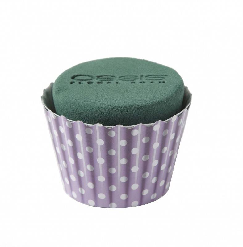 OASIS® FLORAL FOAM Cupcake Lila Ø6x8cm | 6 stuks