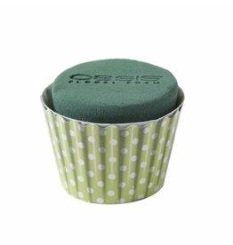 OASIS® FLORAL FOAM Cupcake Mint Ø6x8cm | 6st