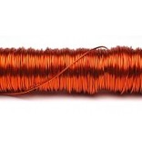 H&R Deco Lak Draad op Houten Klos Oranje Ø0,50mm x50m | 100g
