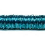 H&R Deco Lak Draad op Houten Klos Turquoise Ø0,50mm x50m | 100g