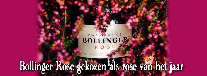Bollinger Rosé is 'Rosé Champagne van het Jaar'