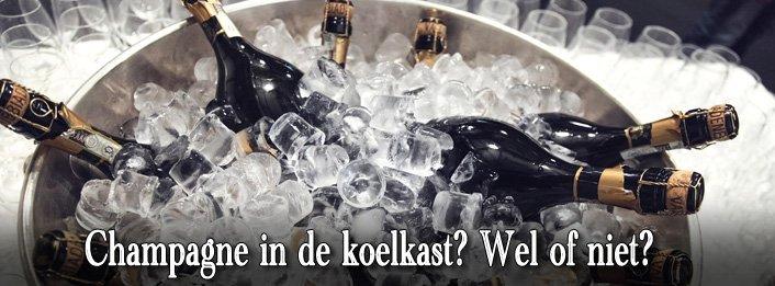 Mag je champagne in de koelkast bewaren?