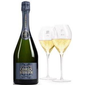 Charles Heidsieck Armchair Club Geschenkset met 2 champagneglazen