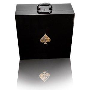 Gold met glazen in luxe koffer