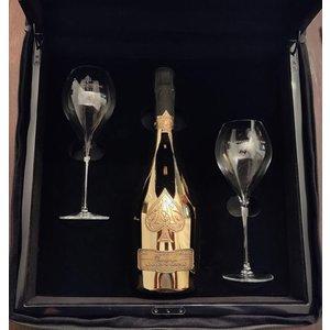 Armand de Brignac Gold met glazen in luxe koffer